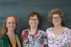 Photo of the three Co-Presidents of SPEVI Sharon Duncan Frances Gentle Phia Damsma